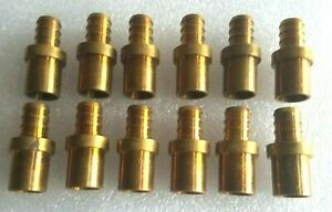 1 2 Pex X 1 2 Sweat Adapters Brass Crimp Fittings 12 Pc s Sold As A Lot