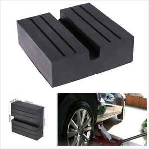 Black Jacking Beam Rubber Support Block Scissor Lift Pad 75x75x25mm Fit For Car