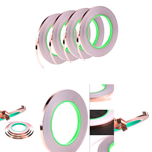 4 Pack Copper Foil Tape double sided Copper Tape With Conductive Adhesive For