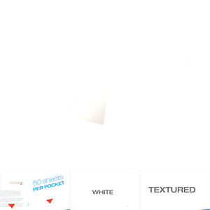 Oxford Twin pocket Folders Textured Paper Letter Size White Holds 100 She