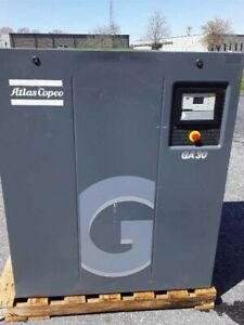Used 40 Hp Atlas Copco Ga 30 With Computer And Quiet Housing