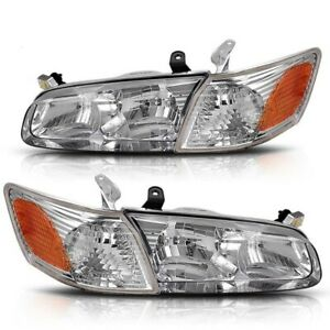 Headlight Assembly Compatible With 2000 2001 Toyota Camry Headlamps amber Corner