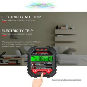 Electric Outlet Tester Socket Circuit Polarity Voltage Wire Test Breaker Finder