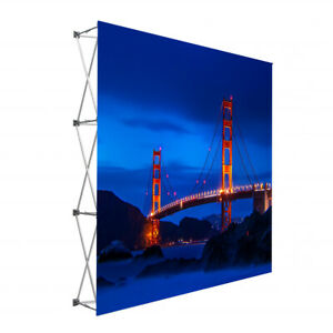 Tension Fabric Straight Pop Up Backdrop Frame Display Trade Show Backdrop Frame