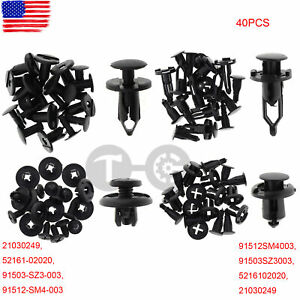 40pc Bumper Cover Fender Shield Clip Wheelhouse Liner Retainer For Gm Ford Chevy Fits 2004 Corolla