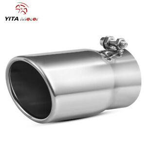 Yitamotor 2 5 Inlet 3 Outlet 6 Length Exhaust Tip Stainless Steel Clamp On