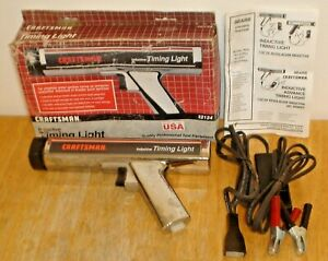 Vintage Sears Craftsman 9 2134 Inductive Timing Light W Owners Manual Box