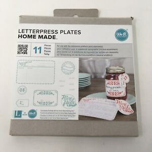 We R Memory Keepers Homemade Lifestyle Letterpress Plates