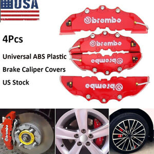 4pcs 3d Red Car Universal Disc Brake Caliper Covers Front Amp Rear Accessories Kit Fits 2006 Mazda 3