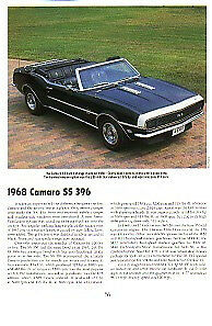 1968 Camaro Ss 396 Convertible Article Must See