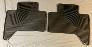 Rubber All Weather Tacoma Rear Black Floor Mats 2 Rear For Toyota Tacoma Rear
