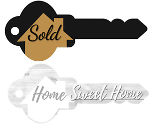 Real Estate Key Shaped Sold Sign Home Sweet Home Photo Prop Agent Supplies