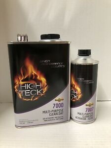 High Gloss Urethane Clear Coat Gallon Kit 41 With Slow Activator
