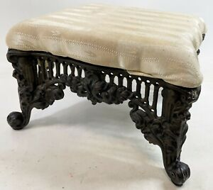 Vintage Three Hands Heavy Cast Iron Base Victorian Reproduction 13 Foot Stool