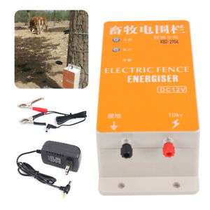 Fence Charger Solar Energy Controller High voltage Pulse Energizer Pasture Etc