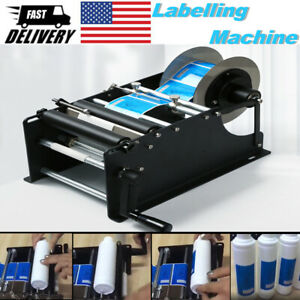 Manual Labelling Machine For Round Bottles Jars Beer Can Sticker Labeler Packing