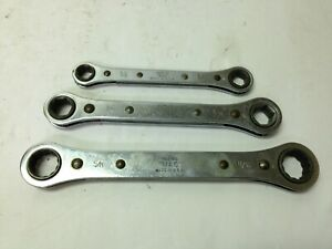 Vintage Mac Tools Sae Ratcheting Wrench Set Rbw 20 Rbw 15 Rbw 10 3 8 To 11 16