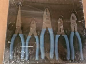Snap On 5pc Pliers Set In Pearl Blue