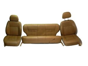 Jeep Cherokee Xj 96 01 Oem Tan Interior Front And Rear Leather Seat Full Set