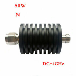 1x Rf Coaxial Attenuator Dc 4ghz 3 6 10 20 30 40db 50ohm Male In Female Out 50