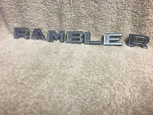 Used Amc 3462757 3462761 1959 1960 Rambler Chrome Block Letters