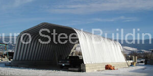 Durospan Steel 25x30x12 Metal Building man Cave She Shed Kit Open Ends Direct