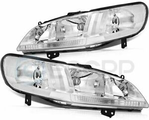 Headlights Assembly Fits 1998 2002 Honda Accord Replacement Headlamp Set