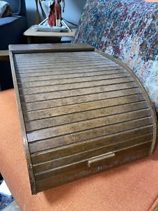 Vintage Roll Top Mail Letter File Sorter Organizer Penday Co Roll a tray Mcm