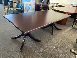 Rectangular Shape Traditional Style Conference Table In Mahogany Wood 7ft L