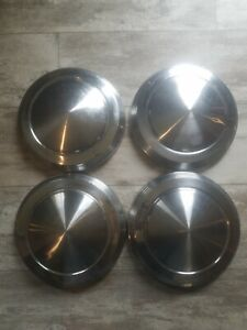 1960s 70s 80s 10 1 2 Vintage Dog Dish Hubcaps Chevy Ford Dodge Buick Set Of 4