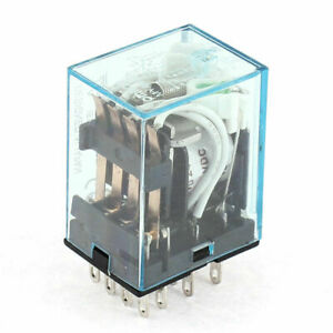 Dc 24v Coil 14 Pin Dpdt Iec255 Electromagnetic Power Relay Delay