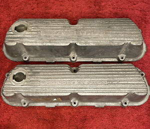 Powered By Ford Cast Aluminum Finned Valve Covers 289 302 5 0 Mustang Gt