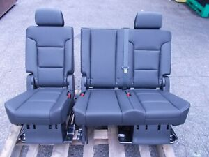 New Takeout Middle Seat 60 40 Escalade Tahoe Yukon 2nd Row 2007 2020 Black Bench