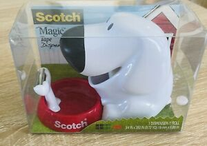 New Scotch Magic Tape Dispenser Dog With Bowl Refillable