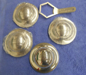 New Nos Billet Specialties Center Caps Set Of 4 With Tool 6 1 4 Snap In Style