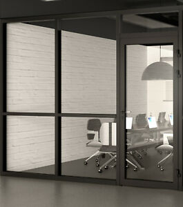 Cgp Office Partition System Glass Aluminum Wall 10 X 9 W door Black Color