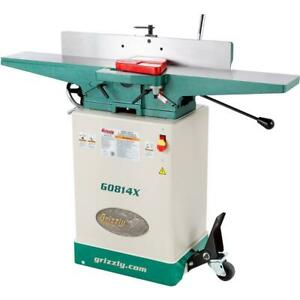 Grizzly G0814x 6 Jointer W stand V helical Cutterhead