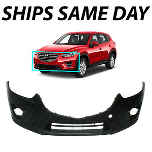 New Primered Front Bumper Cover Fascia For 2013 2016 Mazda Cx 5 W Tow Hook 13 16