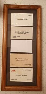 Vtg 70 s Funny Unique Business Card Holder Frame For Home Office made In Usa euc