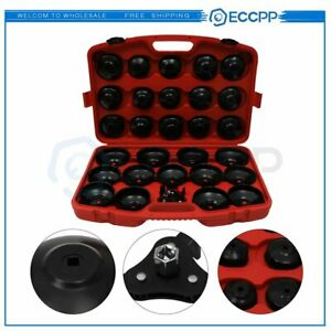 30pc Oil Filter Cap Wrench Cup Socket Tool Set For Mercede Bmw Vw Audi Volvo Etc