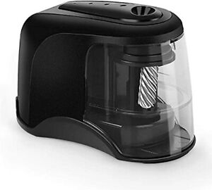 Heavy duty Helical Pencil Sharpeners Usb Battery Operated For Home Office Black