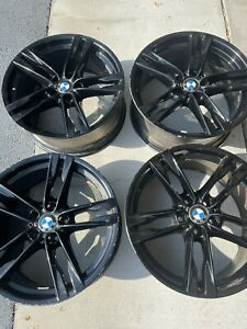 20 Bmw 650i Factory Oem Wheels Gloss Black Rims 6 Series Staggered M Package