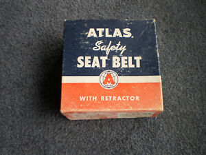 Nos 1966 Vintage Atlas As 75 Ar Tan Safety Seat Belt Assembly W Retractor
