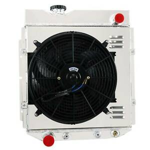 4 Row Core Radiator Shroud Fan For 1964 1966 65 Ford Mustang falcon ranchero V8