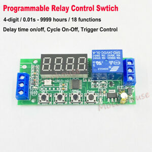 Dc 5v 12v 24v Programmable Delay On off Cycle Trigger Timer Relay Switch Module