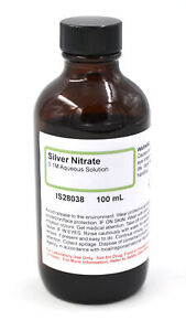 Silver Nitrate Solution 0 1m 100ml The Curated Chemical Collection