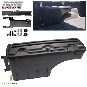 Left Side Rear Truck Bed Storage Box Toolbox Black For 2015 2019 Ford F150