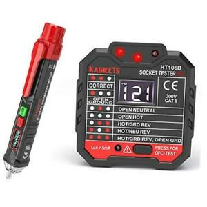Non contact Voltage Tester Electrical Outlet Tester gfci Multi tester