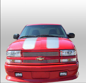 Chevy 98 04 S10 Pickup Blazer Suv Front Top Upper Billet Grille Grill Insert New