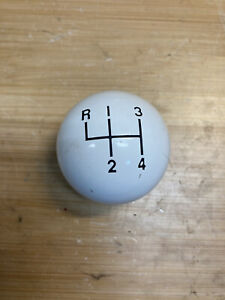Vintage Hurst Ivory White 4 Speed Shifter Gear Shift Knob